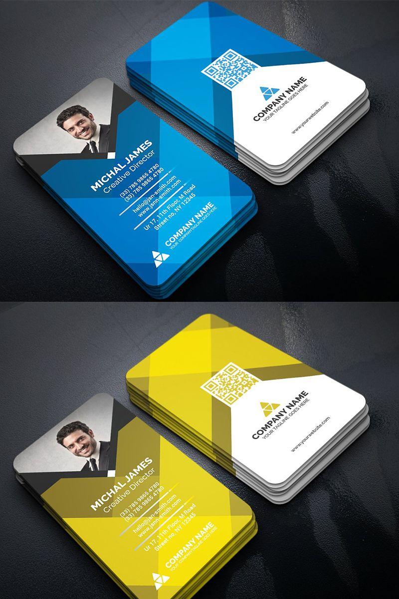 Colorful Geometric Business Card Corporate Identity Template 96504 In 2020 Business Cards Corporate Identity Business Card Layout Design Identity Card Design