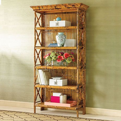 Rattan Bamboo Bookshelves Furniture Pinterest