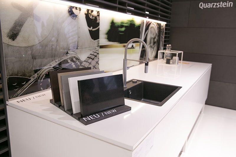 Waschbecken küche weiß  Arbeitsplatte Hochglanz Weiß | poolami.com