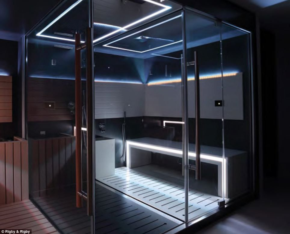 any stresses can be overcome with a mini spa that includes sauna and steam room - Home Steam Room Design