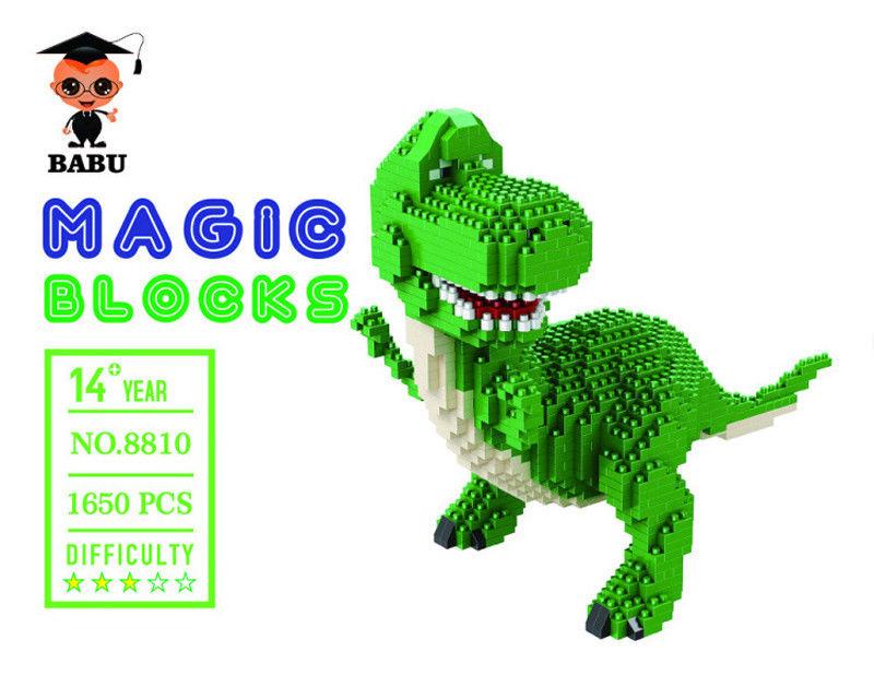 Babu Toy Story Rex the Green Dinosaur DIY Diamond Mini Building Nano Blocks Toy