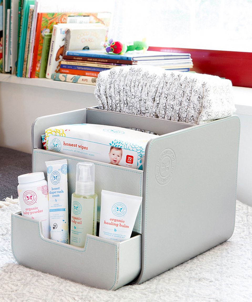 This The Honest Company Gray Diaper Caddy By Is Perfect Zulilyfinds