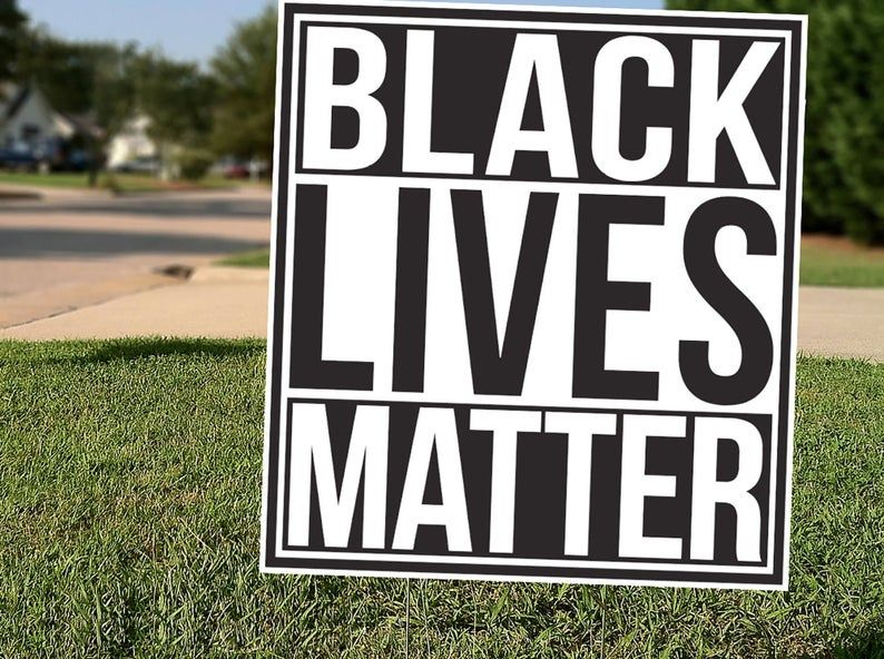 Square 18x18 Black Lives Matter Yard Sign Etsy Black Lives Matter Black Lives Life