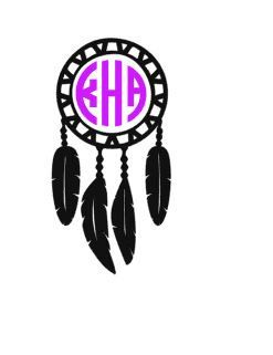 Dreamcatcher Monogram Decal Custom Vinyl Decal Macbook Laptop - Custom vinyl decals macbook
