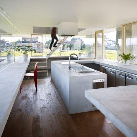 Cocina con grandes ventanales arq casa pinterest for Cocinas grandes