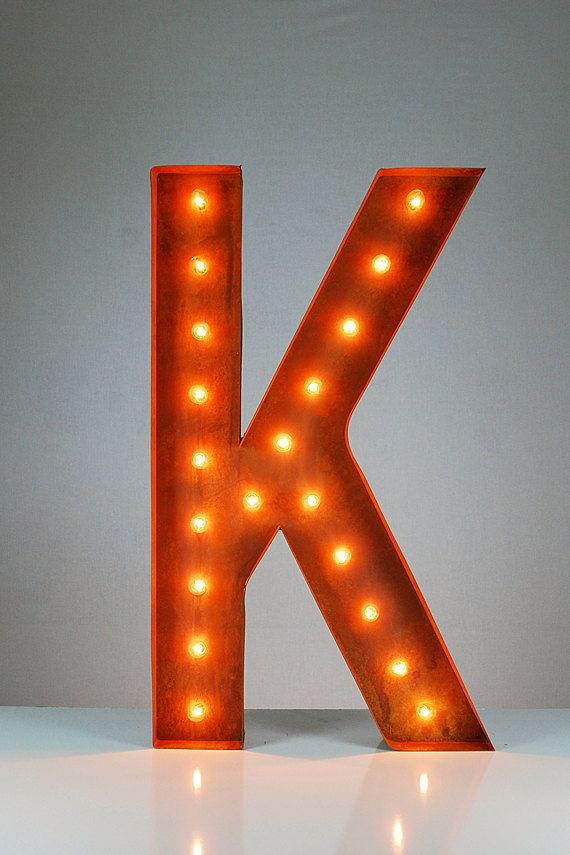 Sale Vintage Marquee Lights Letter K 36 Lighted Marquee Letters Vintage Marquee Lights Marquee Lights