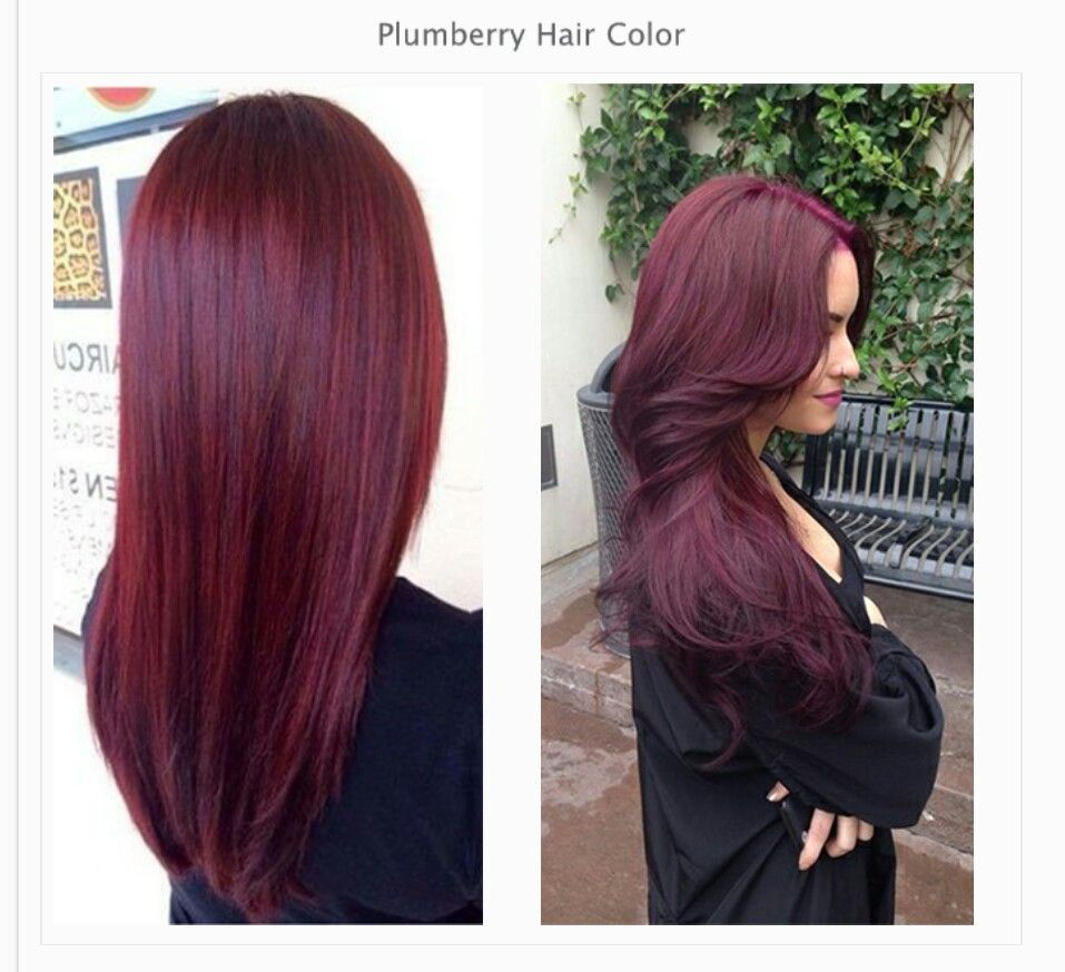 Plumberry Wine Hair Raspberry Hair Hair Color Burgundy
