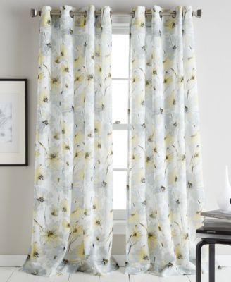 Dkny Modern Bloom 50 X 84 Curtain Panel Reviews Window