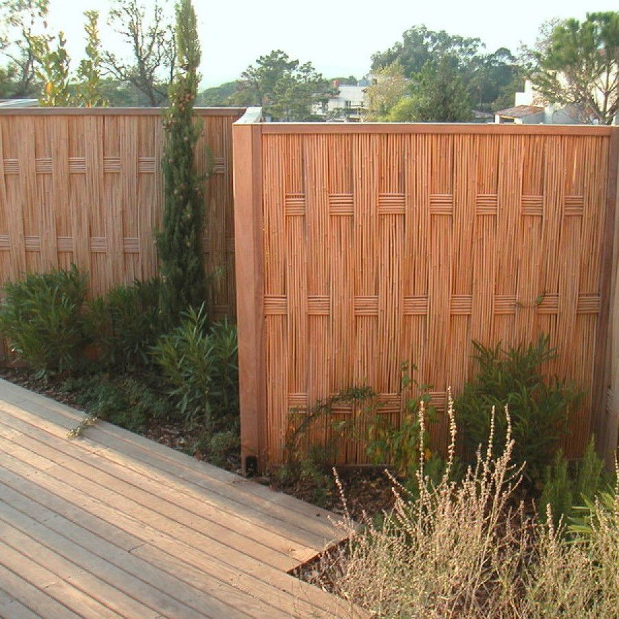 palissade en bambou jardin