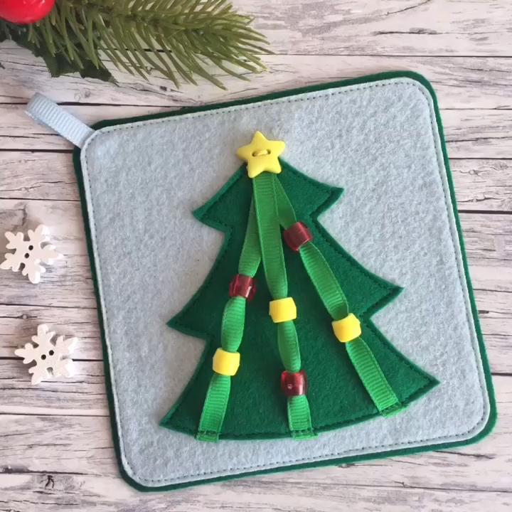 Felt Christmas montessori toy