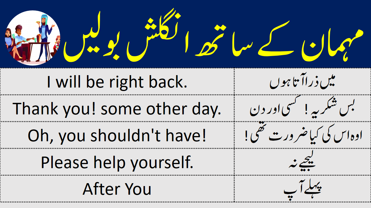English Sentences to Speak English with Guests in Urdu in