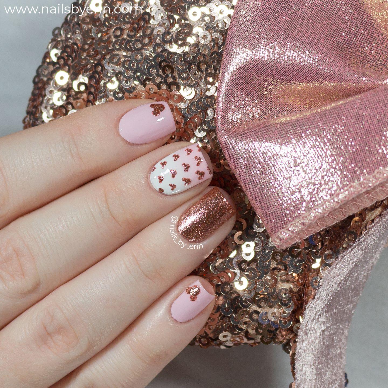 Rose Gold Minnie Mouse Nails Disney Nail Art Nailsbyerin Minnie Mouse Nails Mickey Nails Nail Art Disney