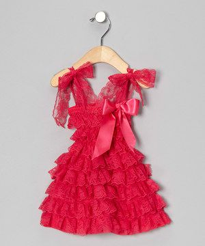 cd2812071163 Another great find on  zulily! Miss Fancy Pants Hot Pink Lace Ruffle Dress  - Infant   Toddler by Miss Fancy Pants  zulilyfinds