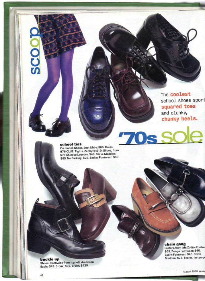 15851aa6a64 One of the most essential  90s trends. Of course the chunkier the better