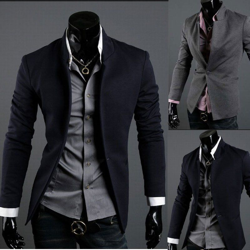 Mens Casual Top Design Sexy Slim Fit Blazers Coats Suit Jackets XS ...