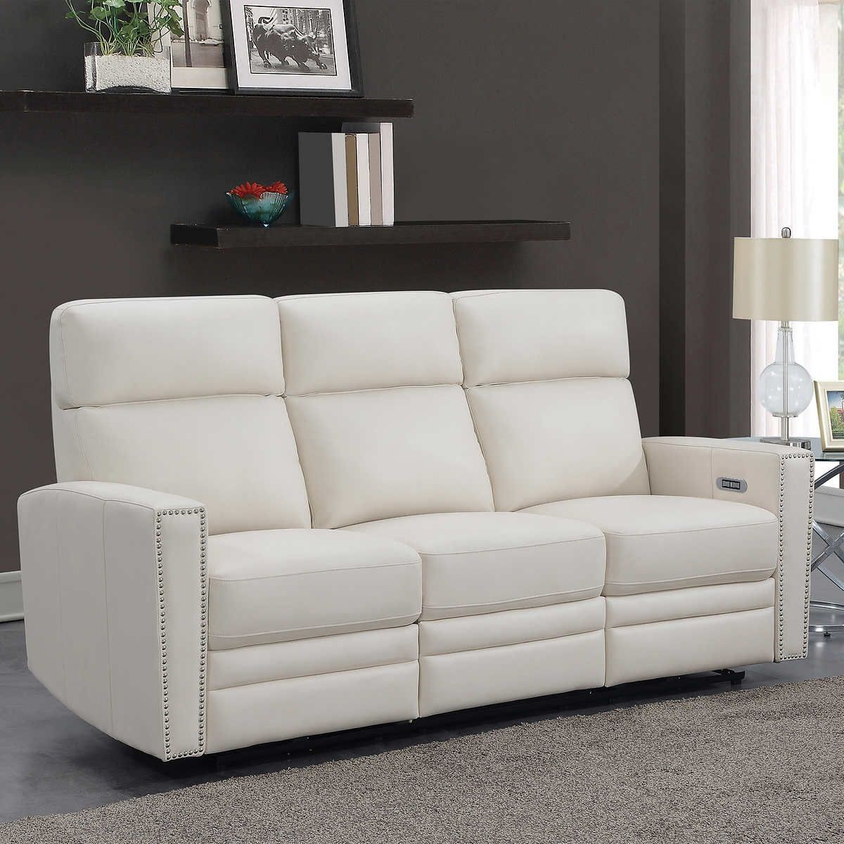 Altera Leather Power Reclining Sofa In 2020 Power Reclining Sofa Reclining Sofa Power Recliners