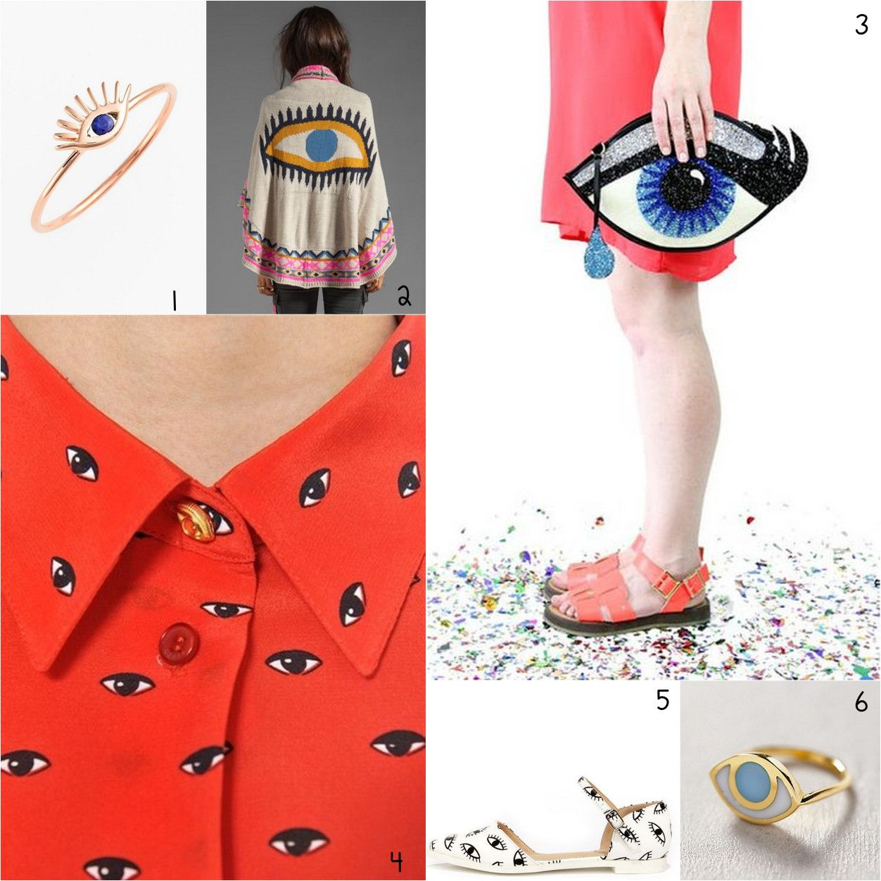 Eye trend moodboard fashion accessories by CraftPatisserie