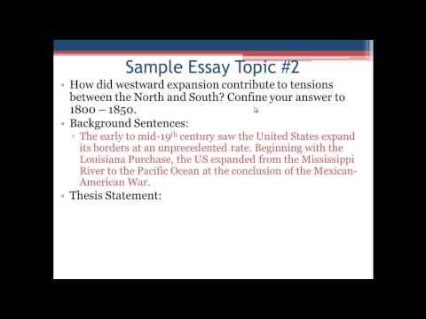 how to write a thesis statement youtube