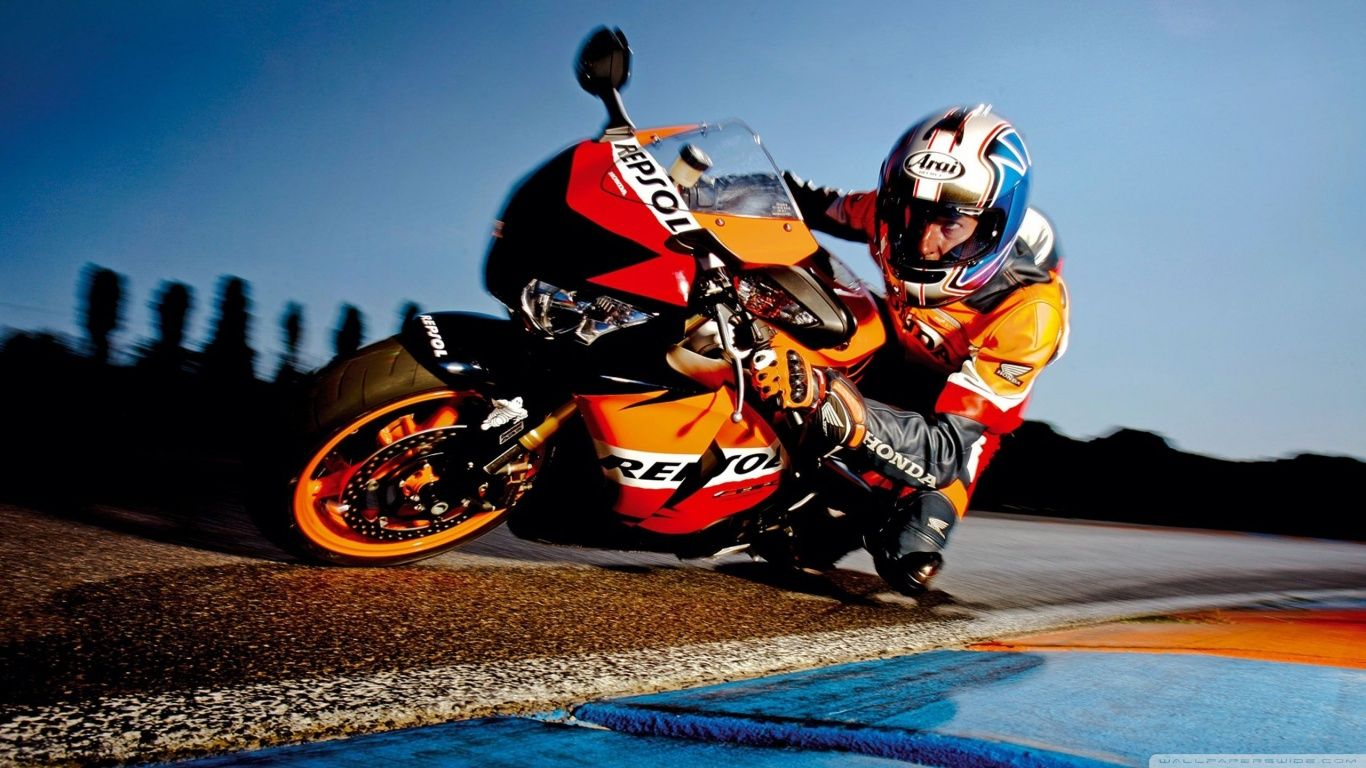 Honda Motorcycle Racing Hd Desktop Wallpaper High Definition