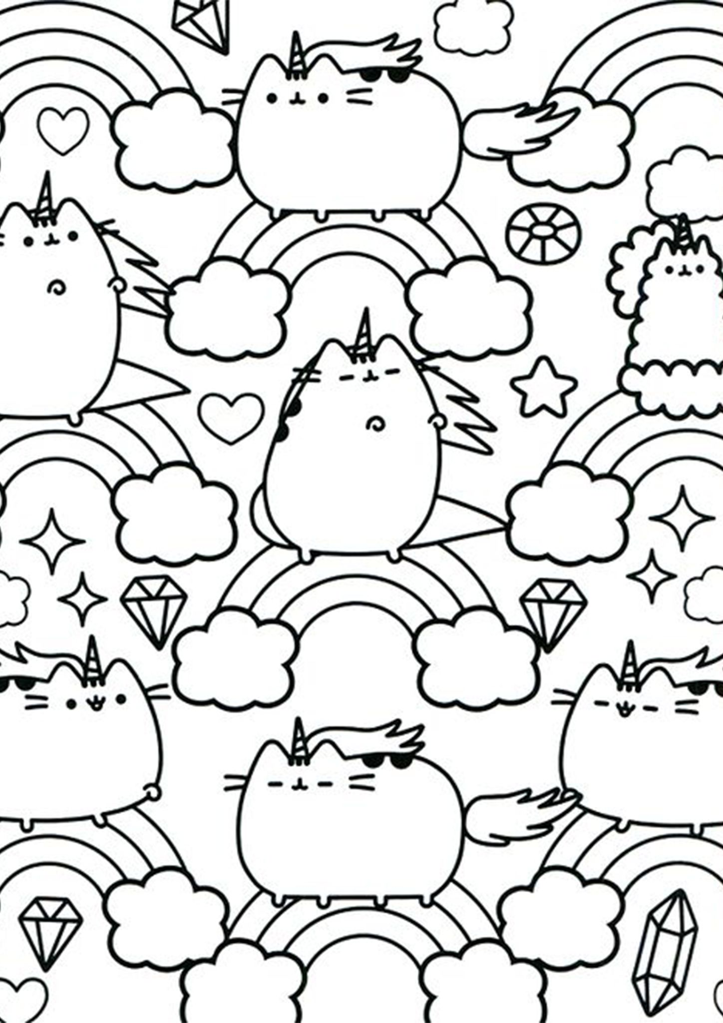 Free & Easy To Print Pusheen Coloring Pages in 2020 ...
