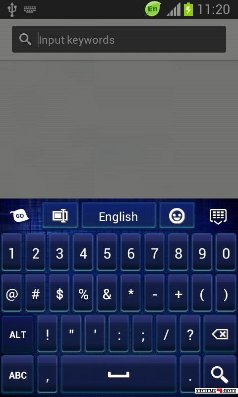 下载GO Keyboard Dark Blue ThemeGO Keyboard Themes keyboard