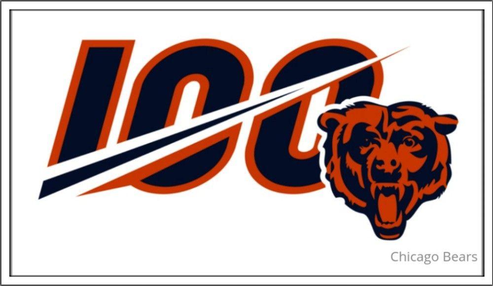 Chicago Bears 100 Anniversary Logo Chicago Bears Football Chicago Bears Bears Football