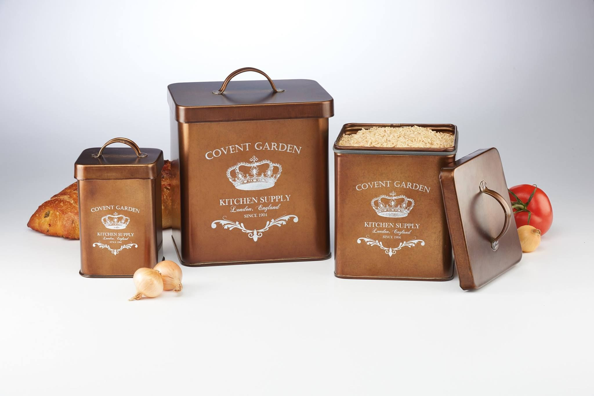 Covent garden collection copper canisters canister sets