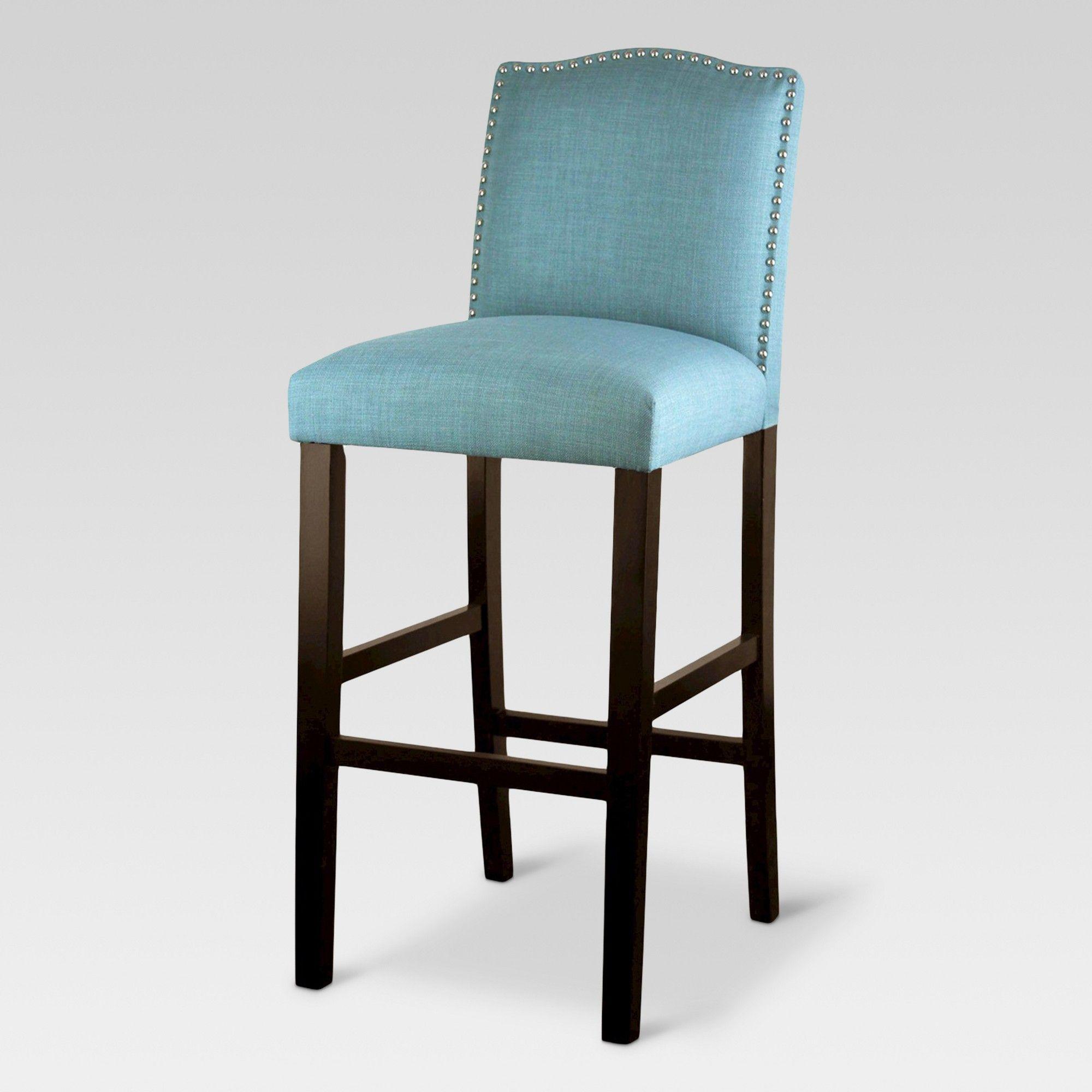 Swell 28 Camelot Nailhead Trim Barstool Hardwood Gray Threshold Short Links Chair Design For Home Short Linksinfo