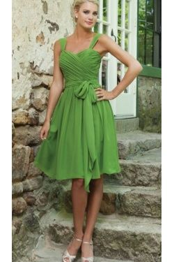 Lime Green Bridesmaid Dresses Formal Style Cly