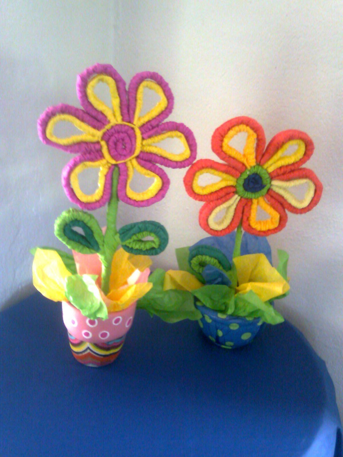 Flores Papel Crepe Manualidades Pinterest Projects To Try - Flores-de-papel-crepe