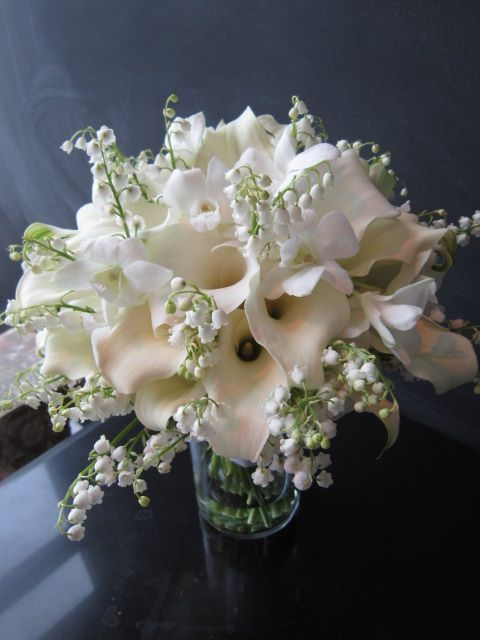 Mini Callas Orchids Lily Of The Valley Lily Centerpieces