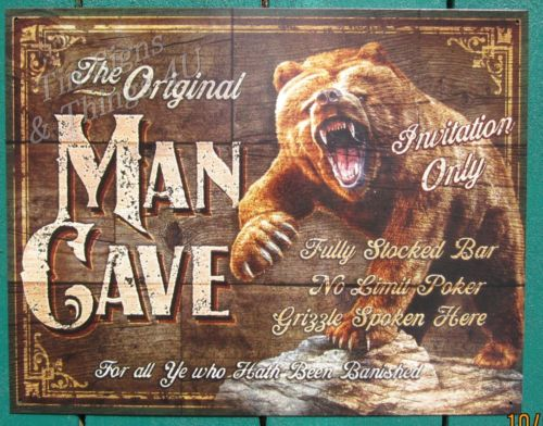 Man Cave Tin Signs : Linked tin signs men cave and