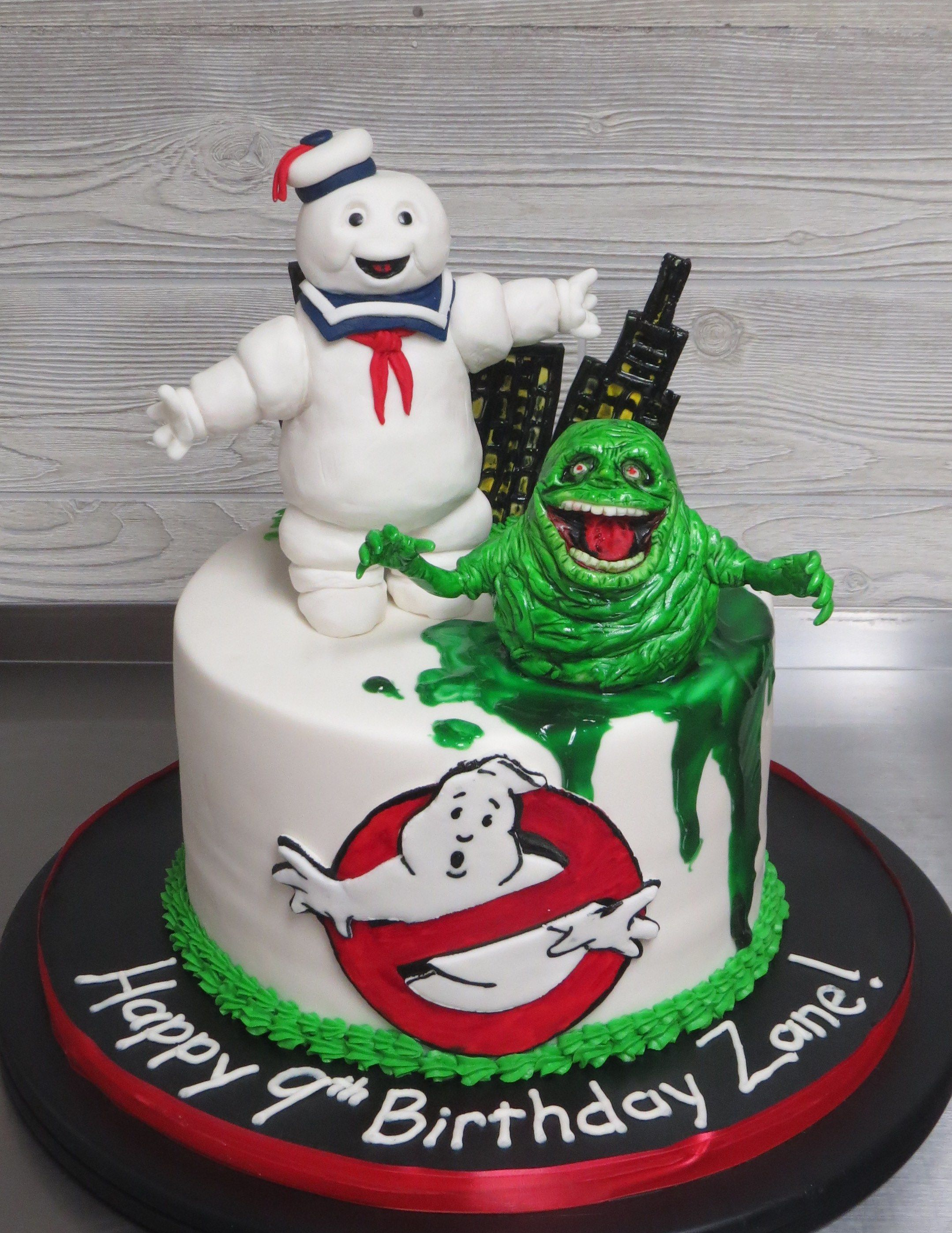 Enjoyable Ghostbusters Cake Everything On This Cake Was Handmade And Edible Funny Birthday Cards Online Alyptdamsfinfo