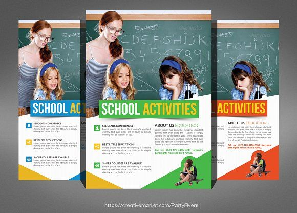 School Education Flyer Template By Party Flyers On Creativemarket
