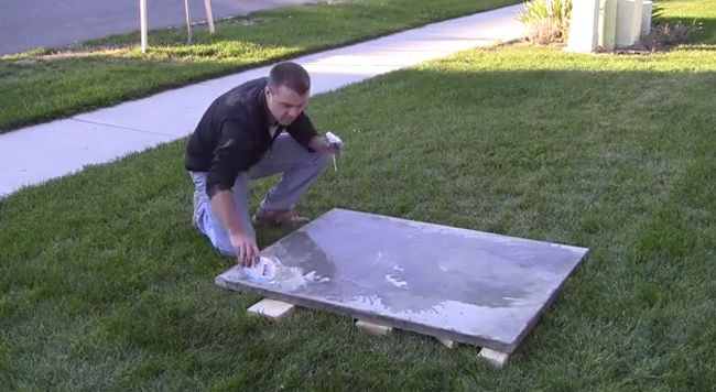 How to Make a Concrete Coffee Table | Concrete coffee ...