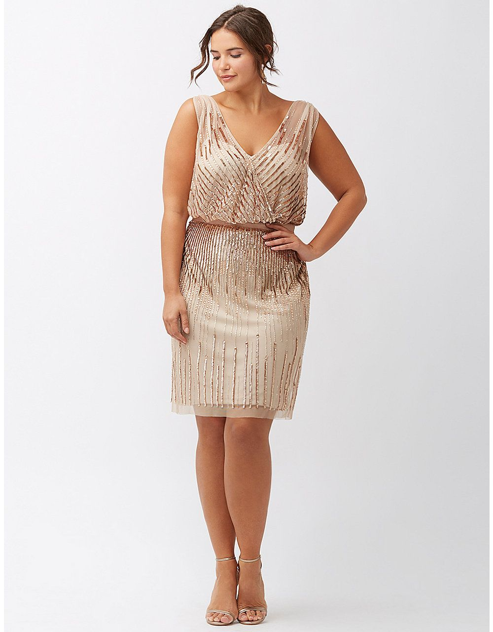 Sequined sleeveless dress by Adrianna Papell   Lane Bryant   PLUS ...
