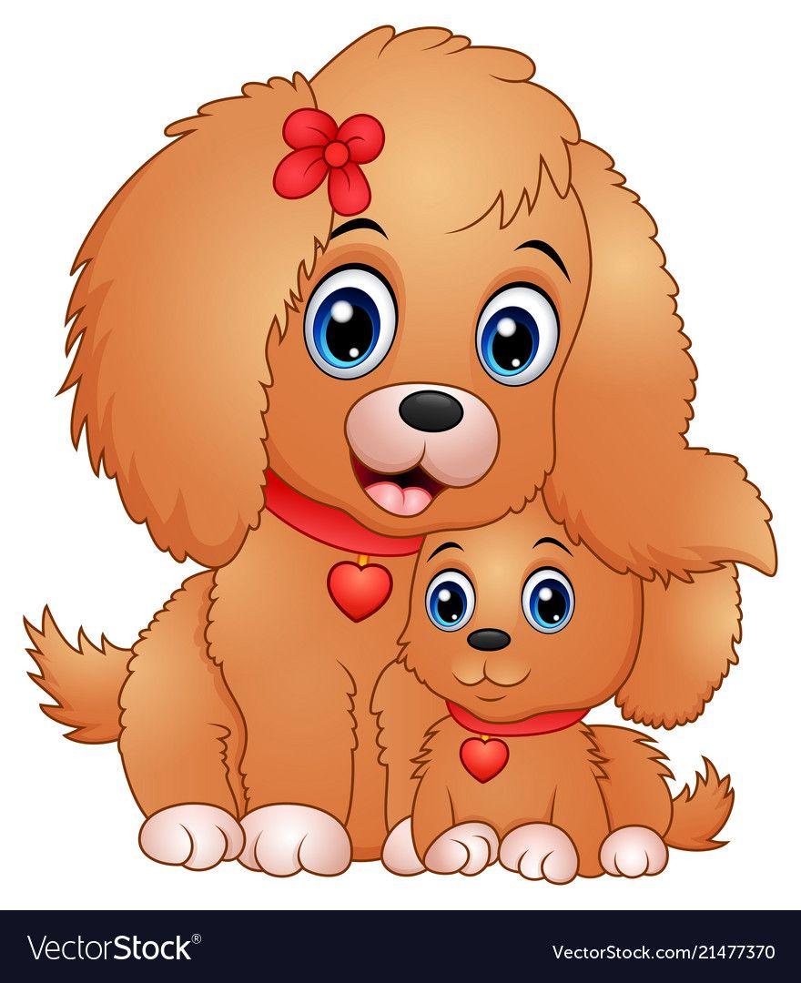 Cute Little Dogs Cartoon Vector Image On Cute Little Dogs Cute