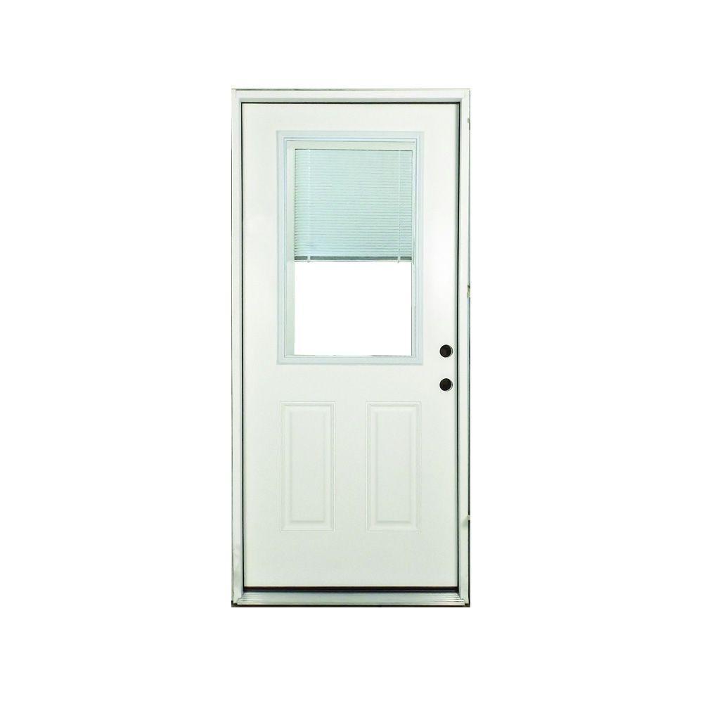 Steves In 2020 Mini Blinds Front Door Exterior Front Doors