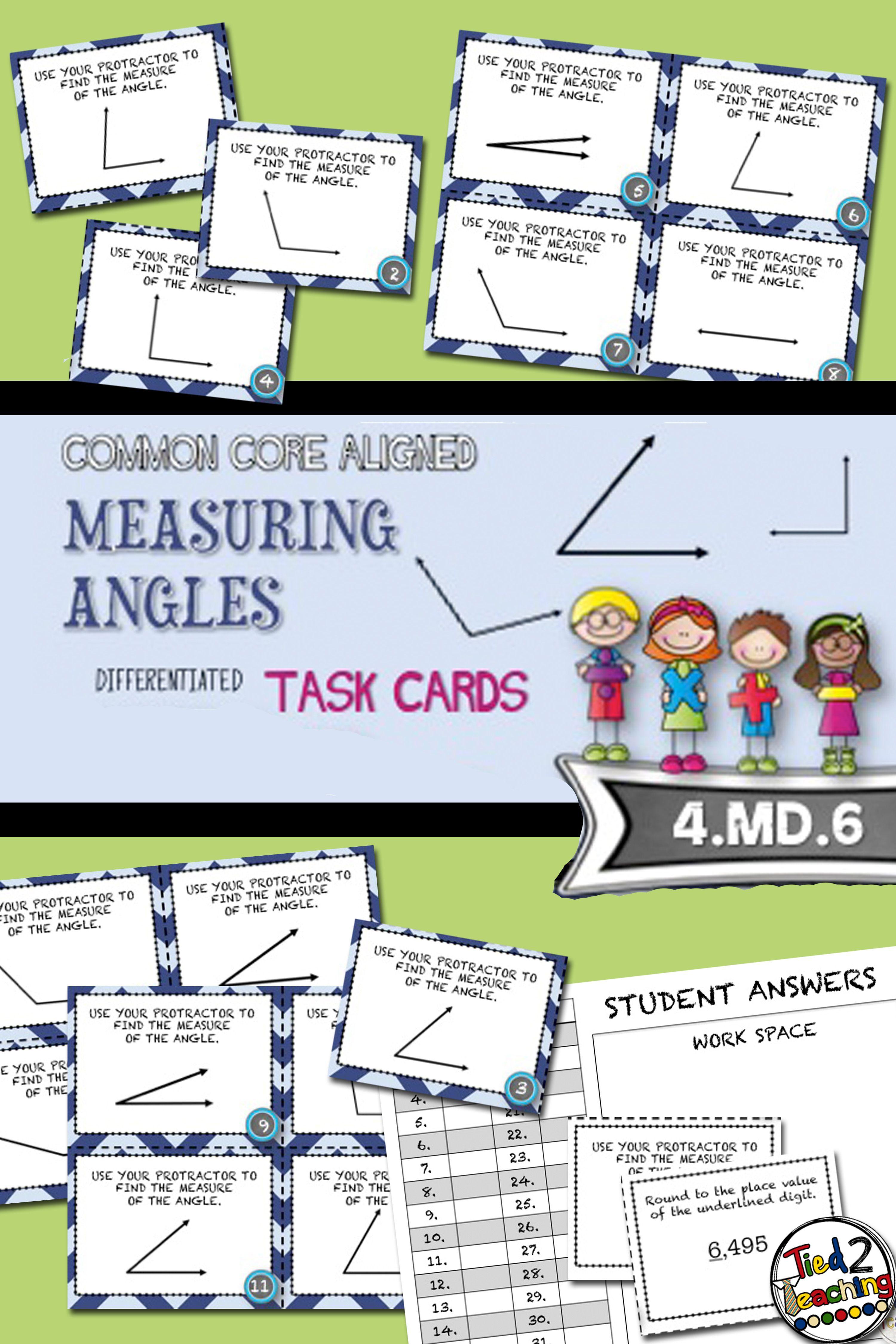 Measuring Angles Using A Protractor 20 Common Core