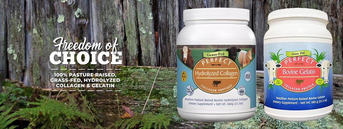 Perfect Hydrolyzed Collagen 100 Hydrolyzed Collagen Sourced From Brazilian Pasture Raised Grass Fed Cows Collagen Grass Fed Cows Hydrolyzed Collagen