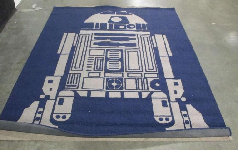 Pottery Barn Kids 8x10 Star Wars R2 D2 Area Rug