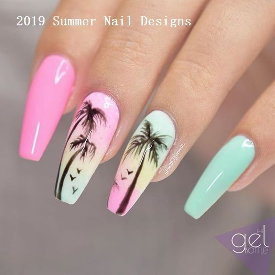 33 süße Sommer Nail Design-Ideen 2019 #nail - #DesignIdeen #Nail #Sommer #Süße #summernails