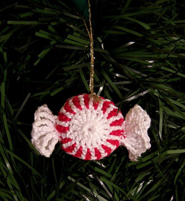 Peppermint Candy Christmas Ornament pattern by LinMarie Creations ...