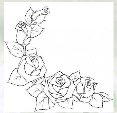 Novosti Flower Drawing Roses Drawing Drawings