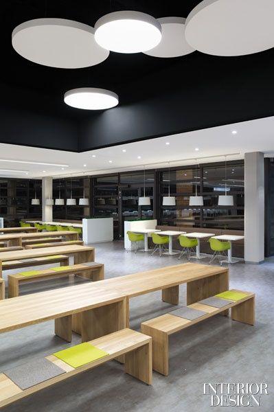 canteen, schwarze Decke, Holz IN THE OFFICE - Küche Pinterest - holz decke haus design bilder