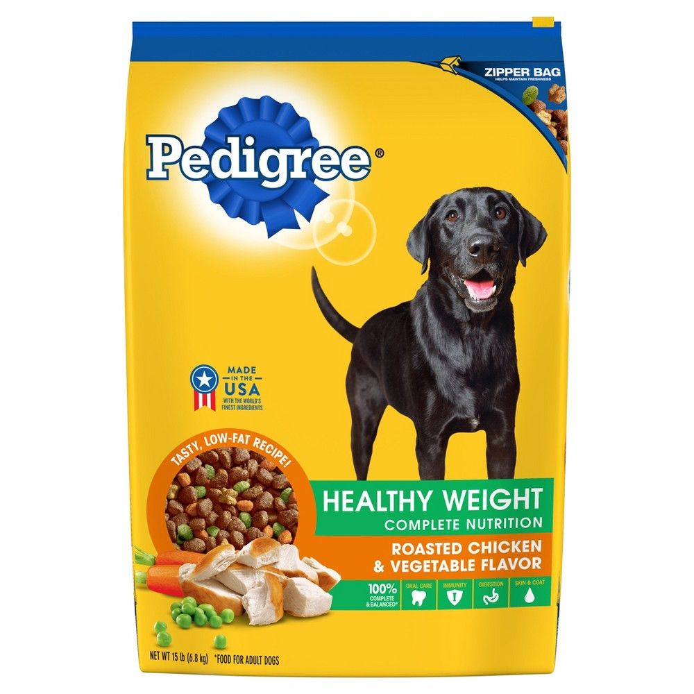 Pedigree Adult Healthy Weight Roasted Chicken Vegetable Dry