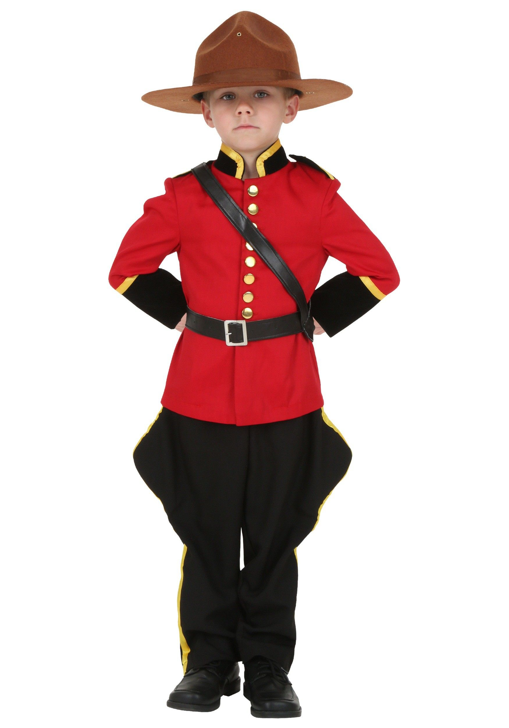 Toddler Canadian Mountie Costume Cute baby halloween