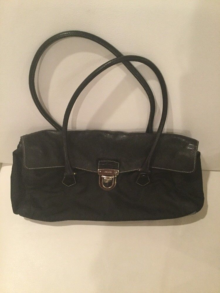 13ad1ee07a2b38 Authentic Prada Vela Nylon Shoulder Bag@ebay @pinterest #purse #louisvatton  #prada #leatherhandbag #bag