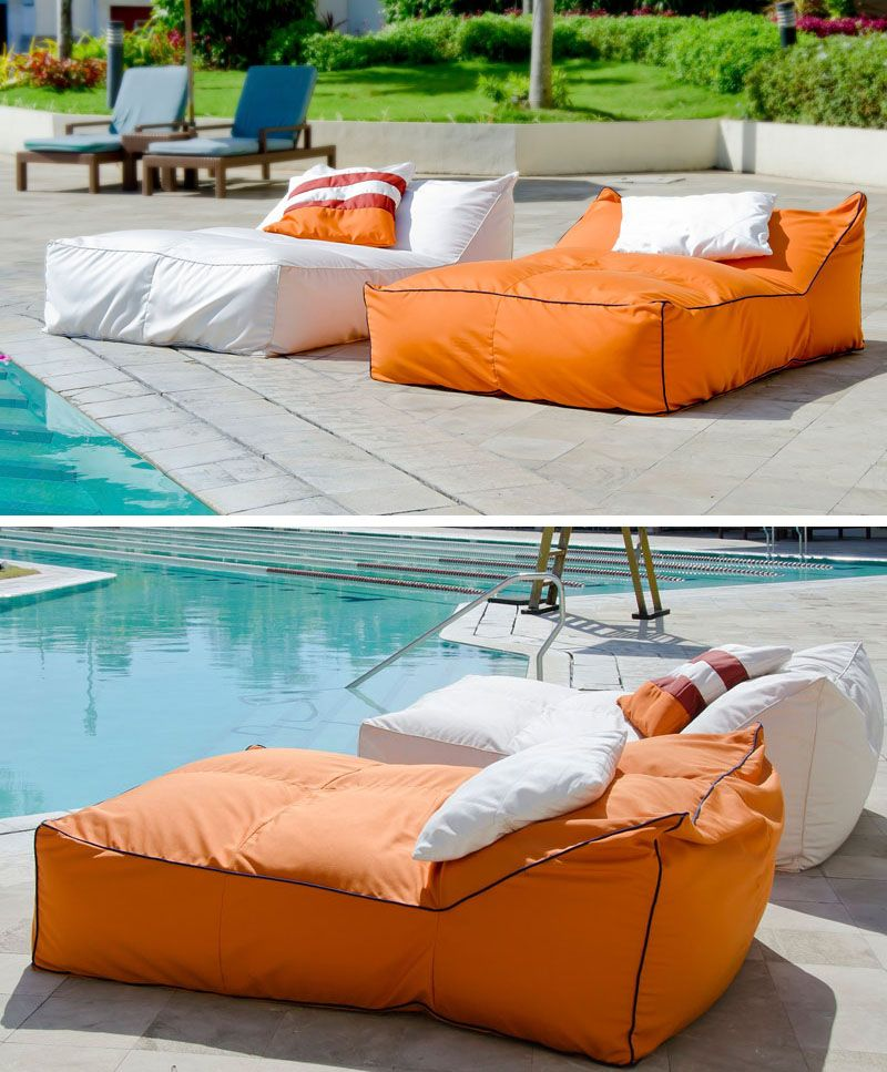 Get extra comfy on these squishy yet supportive outdoor bean bag beds that  are perfect for lounging pool side. - 12 Outdoor Daybeds To Get You Dreaming Of Warmer Weather Home