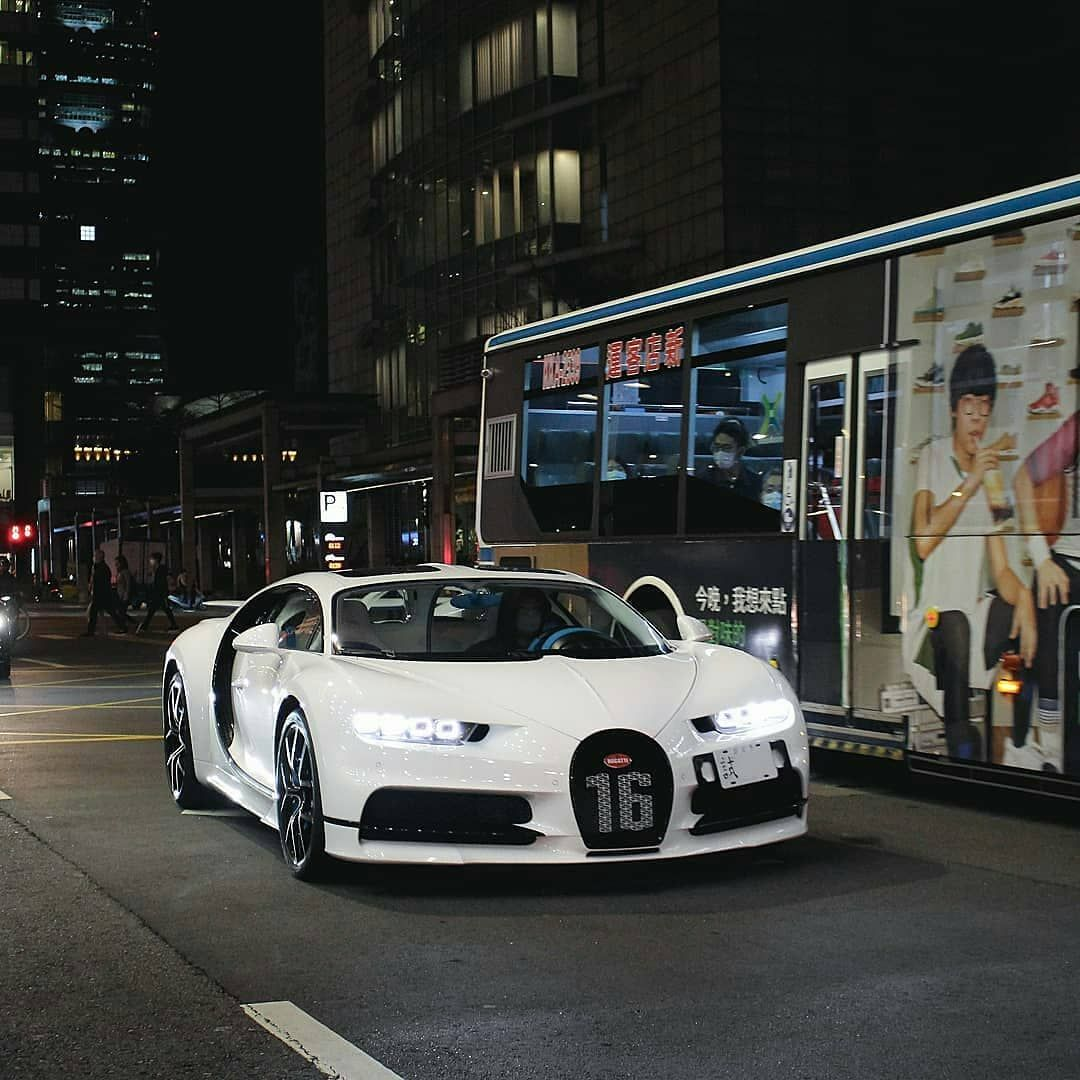 "Only Bugatti Chirons on Instagram: ""Clean all-white Chiron Sport from Taiwan �� [Photos by @tim.carphotography] #Bugatti #Chiron #ChironSport #OnlyChirons"""